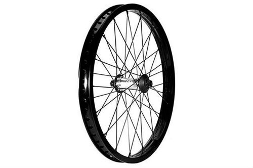 "Primo VS N4 Flangeless V2 Front Wheel - Polished Hub With Black Rim 10mm (3/8"")"
